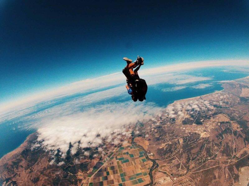 Die Aussicht bei einem Fallschirmsprung ist unglaublich in Neuseeland
