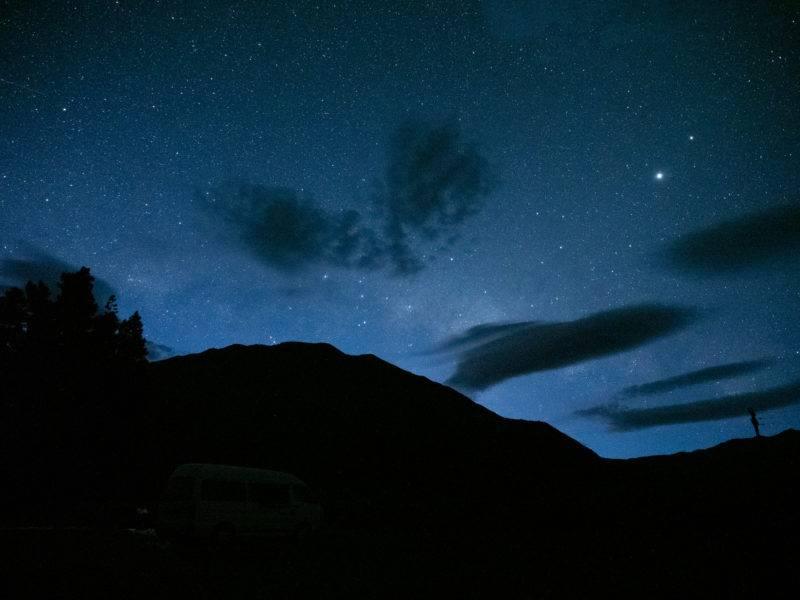Sternenhimmel an der Harper Campsite