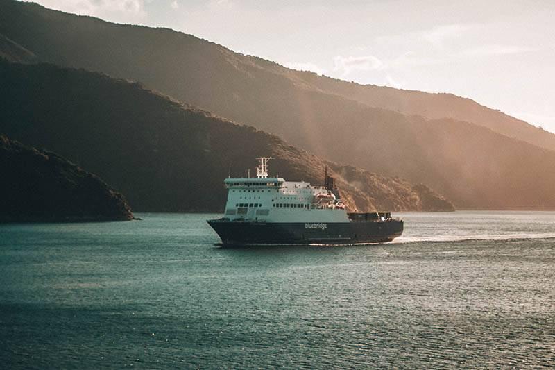 Fährüberfahrt von Wellington nach Picton (Foto Elias Klug)