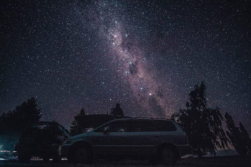 Der geilste Sternenhimmel in Neuseeland (Foto Elias Klug)
