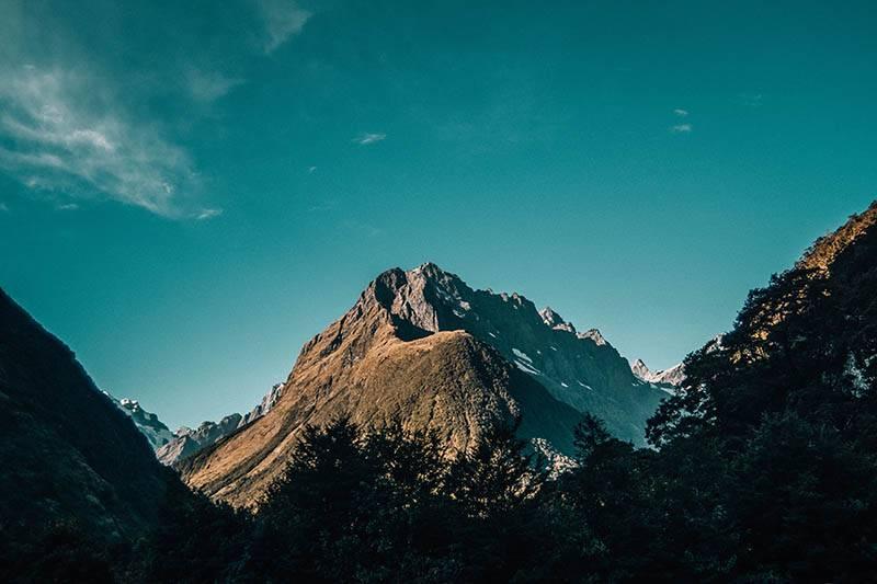 Tolle Berge in Neuseeland (Foto Elias Klug)