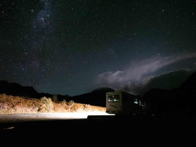 Uebernachten in den Bergen mit einem grossartigen Sternenhimmel